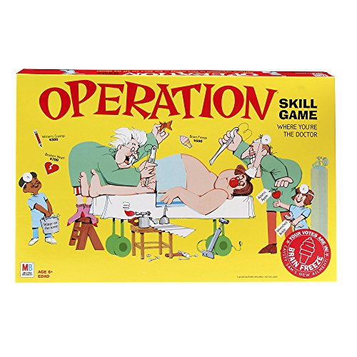 Operation Electronic Board Game With Cards Kids Skill Game Ages 6 and Up (Amazon...