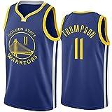 DIMOCHEN Movement Ropa Jerseys de Baloncesto para Hombres, NBA Golden State Warriors 11# Klay Thompson, cómodo, Camiseta Uniformes Deportivos Tops (Size:S,Color:G1)