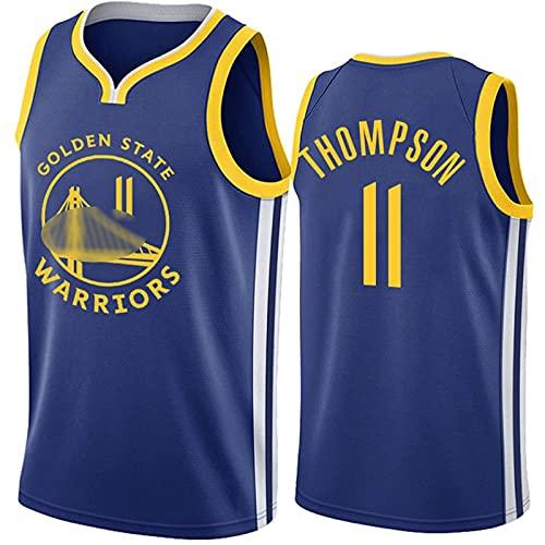 YCQQ Jersey Baloncesto Masculino, Guerreros # 11 Klay Thompson-Men's Sports Basketball Uniform: Alfanumérico Cosido, Camiseta de Malla Transpirable, Chaleco De Gimnasia(Size:L175-180,Color:G1)