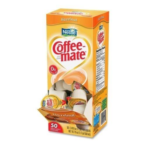 Coffee-mate Hazelnut Creamer, .375 oz., 50 Creamers/Box by