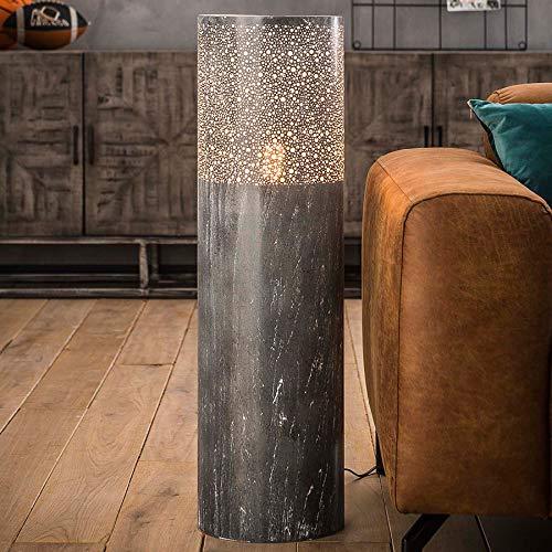 Moderne staande lamp van metaal betonlook Ashton