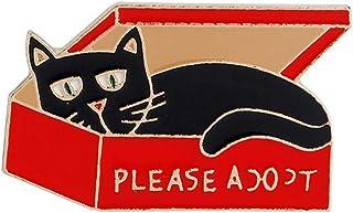 PULABO - Broche de esmalte para ropa, diseño de fantasma, diseño de loro, gato, 5 creativos y exquisitos trabajos de segur...