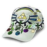 N - A Legend Zelda - Gorra de béisbol con protección solar, poliéster, ajustable, unisex, color negro