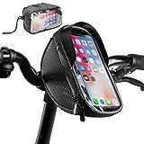NSK *Nuevo bolso para bicicleta con manillar para smartphone (pantalla táctil de reconocimiento facial, marco de almacenamiento de bicicleta de montaña resistente al agua)