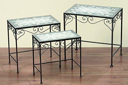 Bella-Vita GmbH Bijzettafel tafel Colima rechthoekig L56 cm mozaïek tafel, ijstafel tuintafel