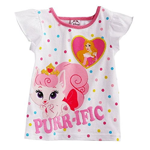 "Disney Princess Toddler Girls Palace Pets Aurora & Bloom ""Purr-ific"" tee (4T)"