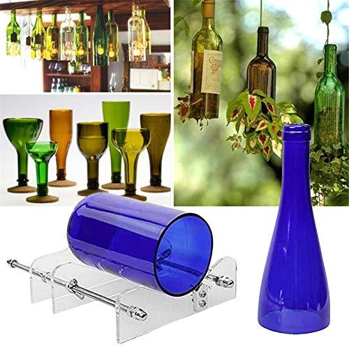 Glazen flessensnijder verstelbare flessensnijder van roestvrij staal voor bier, wijn, alcohol, whisky, champagne