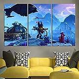 IMAX666 Cuadro En Lienzo 50X70Cm Ratchet & Clank En Ps4 Impresión De 3 Piezas Material Tejido No Tejido Impresión Artística Imagen Gráfica Decor Pared