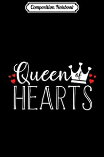 Composition Notebook: Womens Queen Of Hearts Crown Red Heart Valentine's Day Journal/Notebook Blank Lined Ruled 6x9 100 Pages