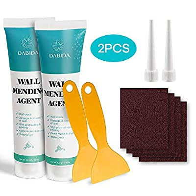 Wall Mending Agent Repair Cream Drywall Repair Kit - Wall Safe, Quick Repair & Drying, Easy Solution to Fill The Crack & Holes in Wall Self-Adhesive, Waterproof, Wood Putty & Plaster (2pcs)
