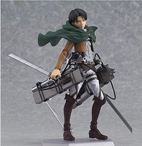 DHTOMC Angriff auf Titan Anime Abbildung Eren Mikasa Levi Ackerman Figma 213 PVC Action Figure Sammler Modell Toy Collection Geschenk Xping