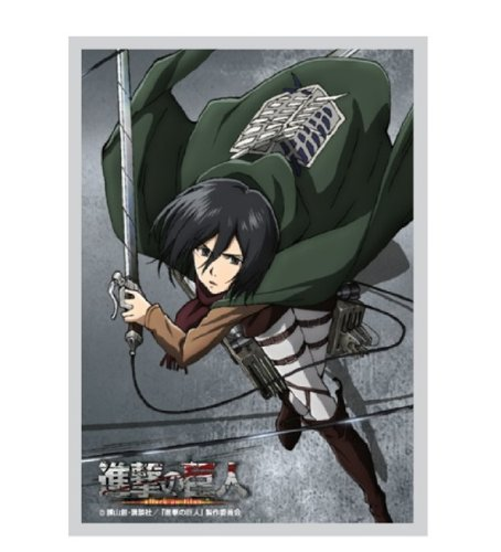 Attack on Titan Mikasa Ackerman Card Game Character Sleeves Collection Sieg Krone Moment of Strike Shingeki no Kyojin Survey Corps image