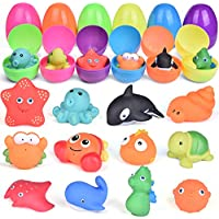 12-Pieces Funlittletoys Prefilled Easter Eggs with Bath Toys