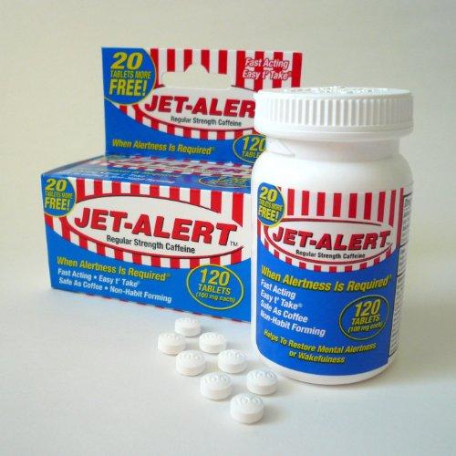 Jet-alert 100 Mg Each Caffeine Tab 120 Count Value Packs (4)