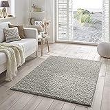 Shaggy-Teppich | Flauschiger Hochflor für Wohnzimmer, Schlafzimmer, Kinderzimmer oder Flur Läufer | einfarbig, schadstoffgeprüft, allergikergeeignet | Grau - 200 x 290 cm