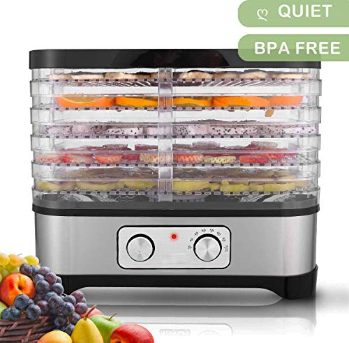 Great Deal! Food Dehydrator Machine, Professional Electric Food Preserver for Beef Jerky, Dried Frui...