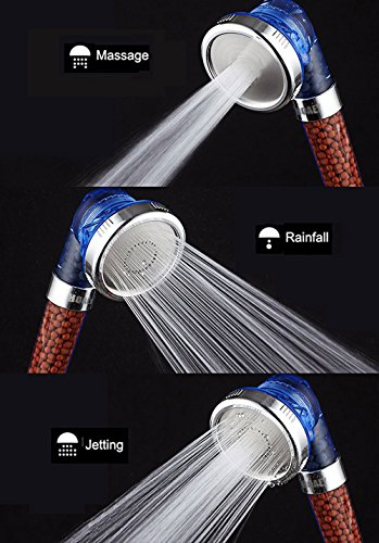 HOAEY Ionic Handheld Filter Shower Head with 3-Way Shower Modes