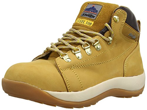 Portwest Steelite Mid Cut Nubuck SB - Botas de seguridad para hombre, color Marrón (Honey), talla 42 EU