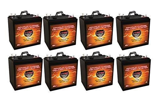 Qty 8 XTR6-235 6V 235AH: 12.96kWh 235Ah 48V AGM Solar Battery Bank Qty 8 VMAX Xtreme Series 6V AGM Deep Cycle Batteries 235Ah 6 Volt Maintenance Free 10.2' L x 7.1' W x 10.8' H