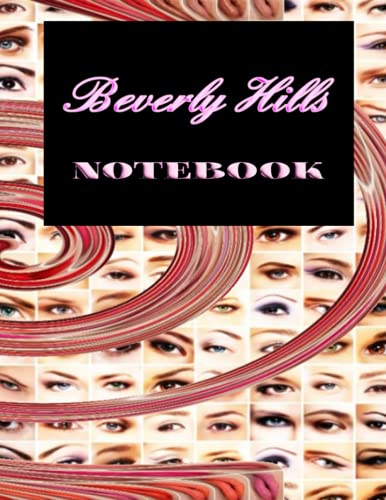 Spiral, Anastasia makeup themed, Wide ruled notebook journal. ForTeens 8 x 11.5 Inches