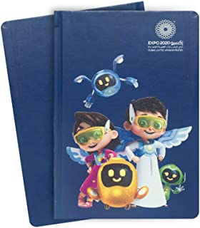 Expo 2020 Dubai A5 Note Book with The Mascots Group Geared Up On a Mission - 13.5 x 21 x 1.4 cm