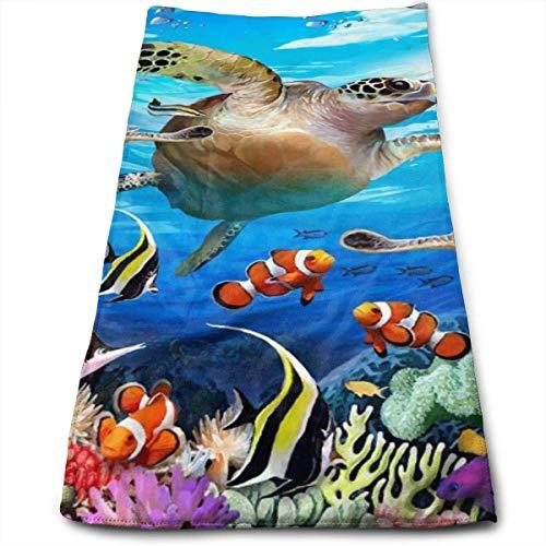 Coral Reef Fish Toalla Ultra Suave Toallas de baño de Gran tamaño Toallas de Mano Toallas de Lavado Ideal para Uso Diario, Hotel & SPA Yoga Fitness Toalla Deportiva
