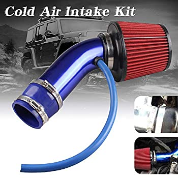 Sporacingrts Cold Air Intake Pipe 76mm 3 Inch Universal PerCompatible withmance Car Cold Air Intake Turbo Filter Aluminum Automotive Air Filter Induction Flow Hose Pipe Kit  Blue