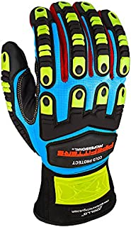 Apollo Performance Work Gloves 3023, Pipefitters Professional Cold Protect, Thinsulate fabric for Warmth, Impact Protection, NeverSlip Technology Grip, Abrasion Protection, Touch Screen Capabilities with Lightning Touch Technology, 1 Pair, Large, Blue