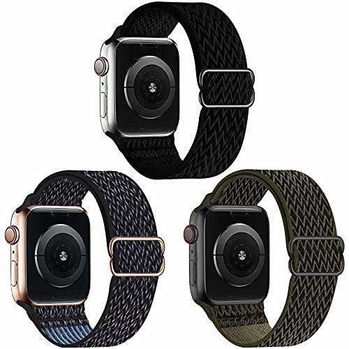 Fengyiyuda 3 Pack Cinturino Compatibile con Apple Watch ,Cinturino di Ricambio Lo Sportivo in Nylon Compatibile con IWatch SE Serie 6/5/4/3/2/1
