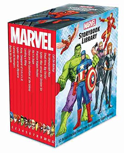 Price comparison product image Marvel Storybook Library Factory Sealed Box set 12 books Marvel Super Hero Stories