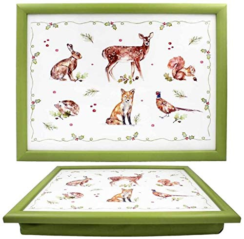 The Leonardo Collection Christmas Winter Forest Lap Tray, Multicolour, 44x34x6cm, LP51686