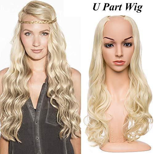 """24""""(60CM) Clips Cheveux Extension Curly [ 1 Pièce à 7 Clips ] Clip in Extension Cheveux Pose & Dépose Facile [Ash Blonde]"""