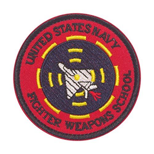 Cobra Tactical Solutions - Parche UNITED STATS NAVY FIGHTER WEAPONS SCHOOL con Cierre de Velcro para Airsoft, Paintball, Ropa táctica y Mochila
