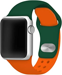 AFFINITY BANDS Two Color Silicone Sport Band for Apple Watch 42mm/44mm (Green/Orange)