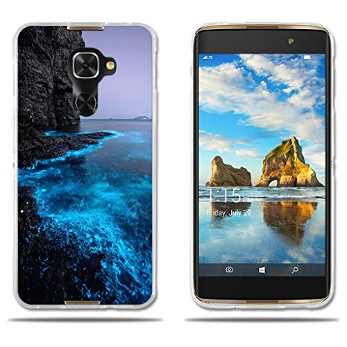 Alcatel Idol 4s/Windows/4 Pro Hülle,FUBAODA[Fluoreszierende Küste]e Silizium Clear TPU Glamour Serie Slim Fit Shockproof Flexible Vollschutz Anti-Shock-Design-Schutz für Alcatel Idol 4s/Windows/4 Pro