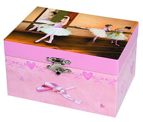 TROUSSELIER - Ballerine - Boîte à Bijoux Musicale - Idéal Cadeau Jeune Fille - Musique Les 4 saisons de Vivaldi - Colori Rose