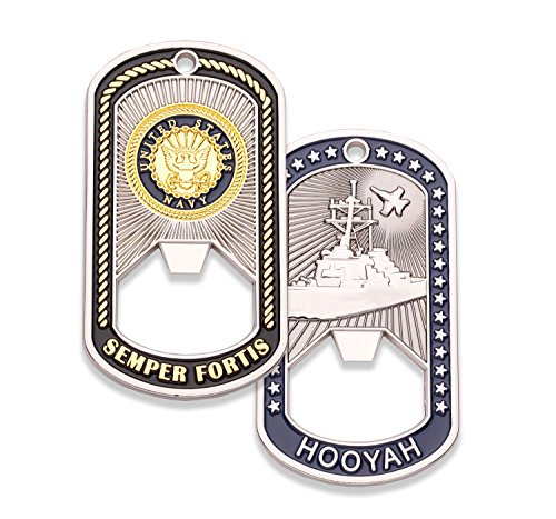 Navy Challenge Coin - Dog Tag - Bottle Opener Coin - Designed by Military Veterans - Officially Licensed Product - Coins For Anything