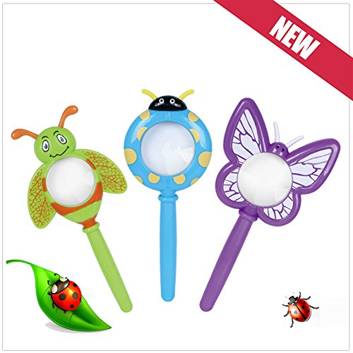 Metermall Hot Kids Leuke Cartoon Plastic Handheld Insect Vergrootglas Originaliteit Speelgoed Cadeau voor Kleuterschool Leerling Kleur Willekeurig