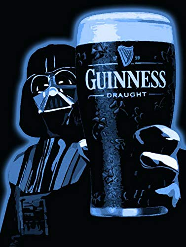 Fanzi Metal Sign - Darth Vader Guinness Cider Guiness Man Cave Bar Pub - 8'X12'Tin Sign