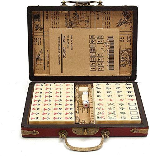 LLKK Juego de Mahjong Digital Chino 144 artículos Juego de Mahjong