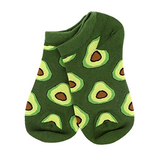 AGUACATE STORE Calcetines Cortos Aguacates Verdes Mosaico