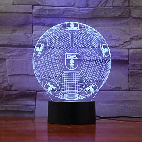 Bundesliga Fußball Team Fc Augsburg 3D Illusion Led Nachtlicht Jungen Kinder Baby Geschenke Fußball Tischlampe Nacht Dekoratives Licht