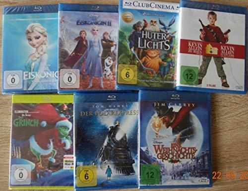 Weihnachts Film Classic Collection Set 7 Blu-rays Die Eiskönigin 1 und 2; Kevin - Allein zu Haus Box 1&2; Der Polarexpress; Eine Weihnachtsgeschichte; Der Grinch; Die Hüter des Lichts