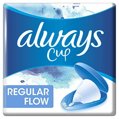 Always Menskopp Regular Flow, framtagen i samarbete med en gynekolog, med resefodral