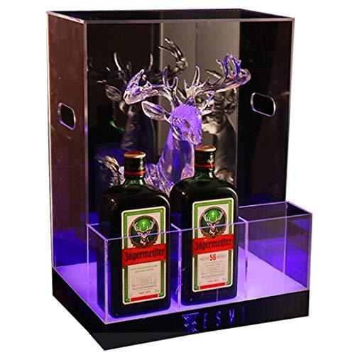 Estante Del Vino Bar LED Luminoso Base De La Botella De Vino De Acrílico Champagne Rey Estante Del Vino Yege Asiento Vino Dedicado Champán Rack De 33 × 26 × 46cm