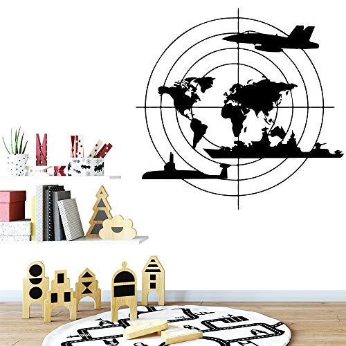 hetingyue wereldkaart, moderne decoratie, wandtattoo, huis, kinderen, wandstickers, slaapkamer, woonkamer, party, familie, decoratie, papier
