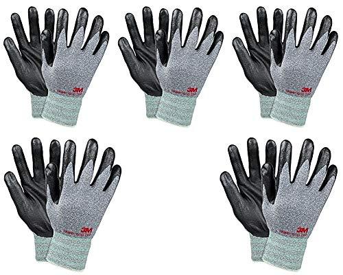 10 LARGE Nitrile Safety Gripper Gloves Builders Engineer DIY Gardening Work