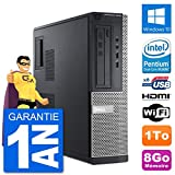 Dell PC 3010 DT G2020 RAM 8Go Disque Dur 1To HDMI Windows 10 WiFi (Reconditionné)