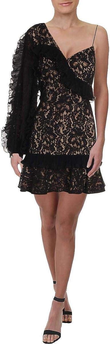 Keepsake The Label Women's Timeless Asymmetric Sleeve Lace Mini Dress