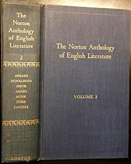Image for The Norton Anthology of English Literature Vol. 2 First Edition